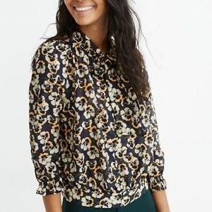 NWT Madewell tie neck blouse